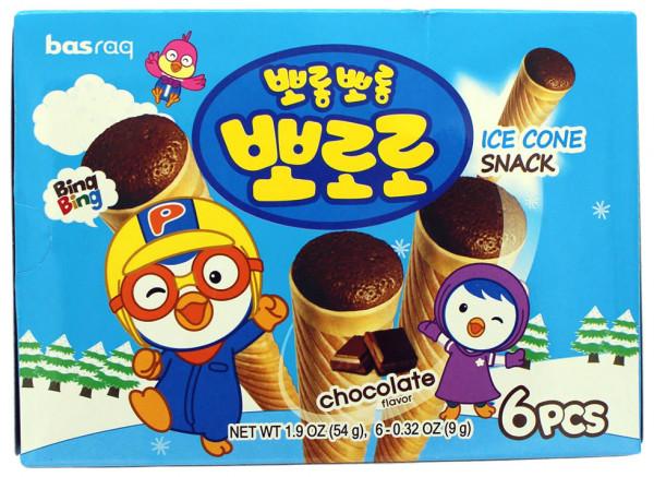 PORORO Koreanischer Eiswaffel-Snack Schokolade, 54 g