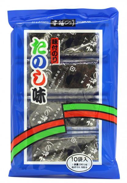Takaokaya Ajitsuke Nori-Seealgen-Blätter geröstet und gewürzt, 10 Stück