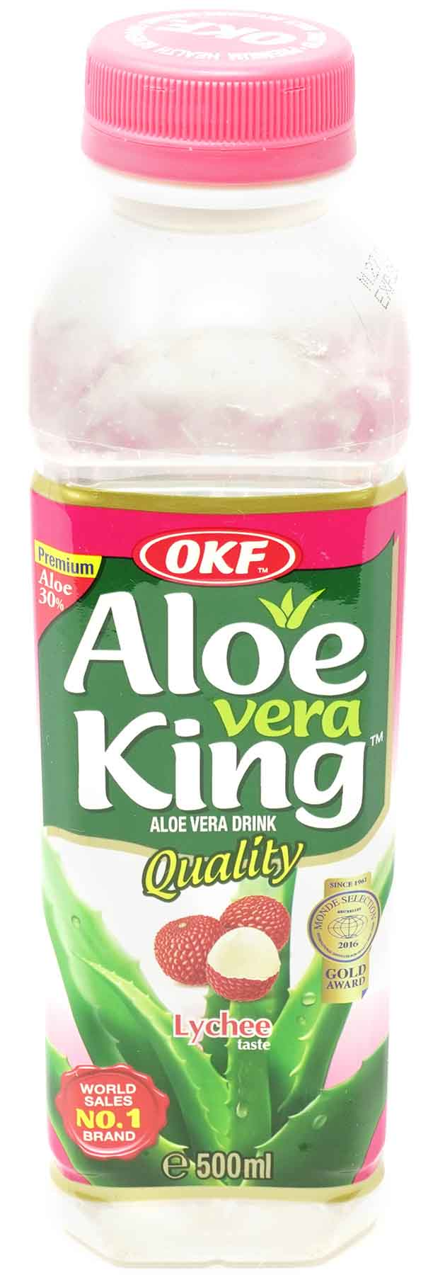 OKF Aloe Vera Getränk Litschi, 500 ml