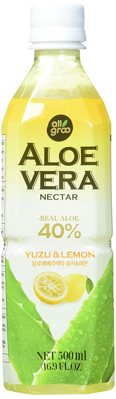 All Groo Aloe-Vera-Getränk mit Yuzu und Zitrone, 500 ml