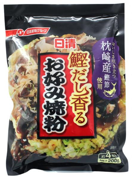 NISSHIN Würzmischung für Okonomi-Yaki, japanische Pfannkuchen, 200 g
