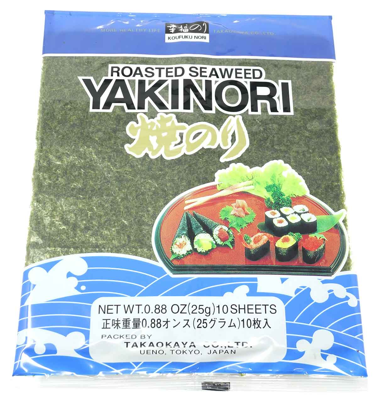 Takaokaya Sushi Nori, 10 Blätter