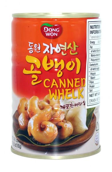 Dongwon Wellhornschnecken-Fleich in Sojasauce, 400 g