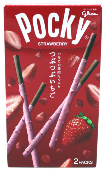 Pocky Schokolade Tubutubu Erdbeere, 55 g