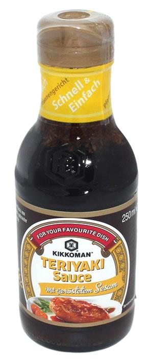 KIKKOMAN Teriyaki Sauce mit Sesam, 250 ml